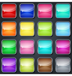 Colorful glass buttons vector image