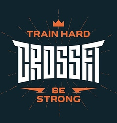 Crossfit emblem with original lettering and vector