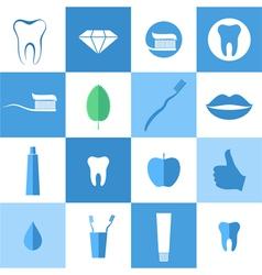Dental hygiene Icon set vector image
