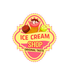 Dessert icon for ice cream shop vector