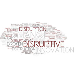 Disruptive word cloud concept vector