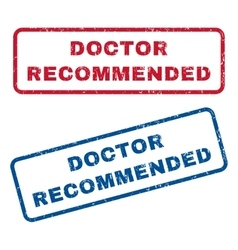 Doctor recommended rubber stamps vector