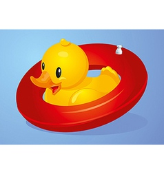 Duck inflatable circle vector