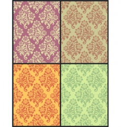 floral wallpaper set vector image