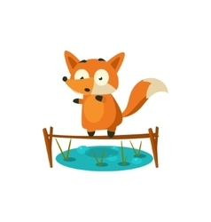 Fox Crossing The Pond vector image vector image