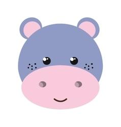 hippopotamus animal cartoon vector image vector image