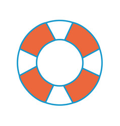 isolated lifebuoy icon vector image