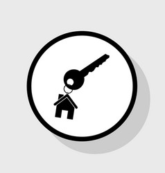 key with keychain as an house sign flat vector image vector image