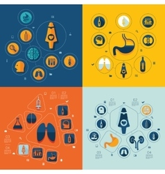 Medicine flat infographic vector