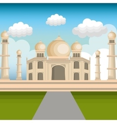 monument india taj mahal design vector image
