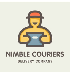 Nimble couriers logo vector