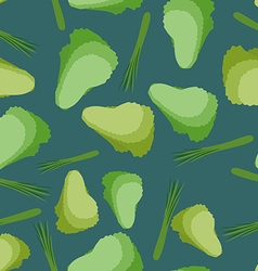 Salad seamless pattern Background vegetable vector image