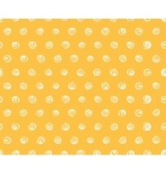 Seamless pattern polka dot fabric wallpaper vector image
