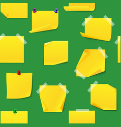 yellow office sticky memory notes vector image