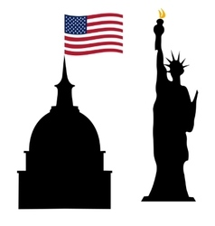 American independence day us symbols vector