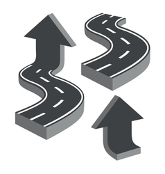 Roads and arrows vector