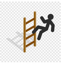 man climbs the stairs isometric icon vector image
