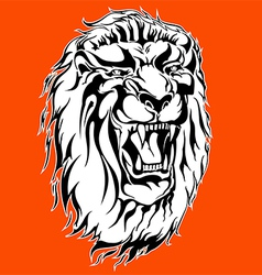 Roaring lion tattoo vector