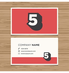 Business card number 5 vector