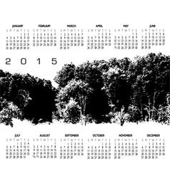 2015 Woods Calendar vector image vector image