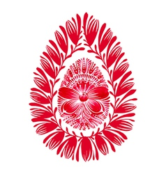 floral decorative ornament easter egg vector image