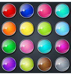 Colorful buttons collection vector