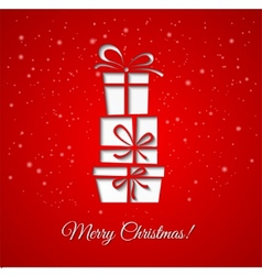 Christmas gift decoration background vector