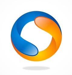 2d circle shape round infinity logo vector