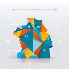 Business infographics polygonal design style can vector