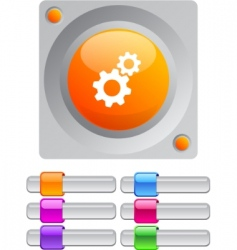 tools color round button vector image