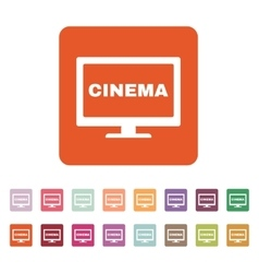 The cinema icon television and tv movie film vector