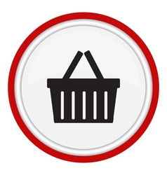 Icon basket vector