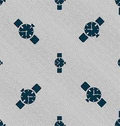 Watches icon symbol seamless pattern with vector