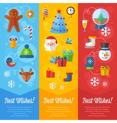 Christmas greeting or invitation cards and banners vector