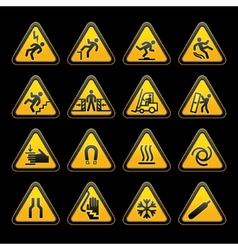 Triangular hazard signs vector