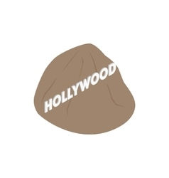 Hollywood sign icon isometric 3d style vector