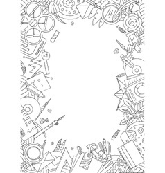 Doodle office frame vector