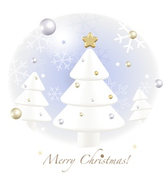 Christmas greetings postcard vector image