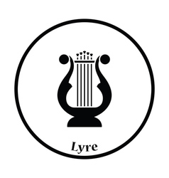 Lyre icon vector
