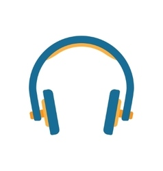 Headphones in flat style vector