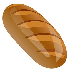 a loaf of bread vector image vector image