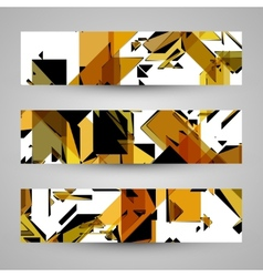 Abstract banner backgrounds vector image
