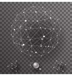 Abstract polygonal wireframe contact connections vector