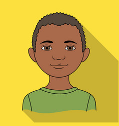 africanhuman race single icon in flat style vector image vector image