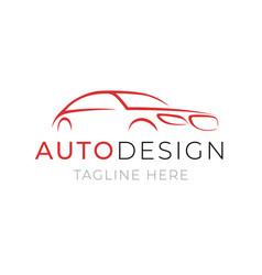 auto logo template car service or dealer shop vector image vector image