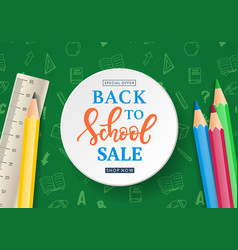 back to school sale banner template vector image vector image
