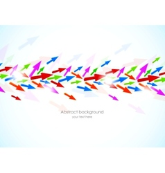 Background with colorful arrows vector image vector image