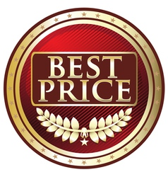 Best Price Red Label vector image vector image