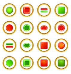 blank web buttons icons circle vector image