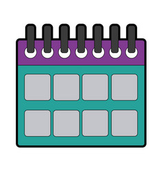 Calendar planner date template for week vector